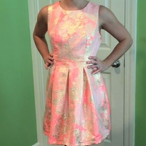Pink and Gold Cocktail/ party dress